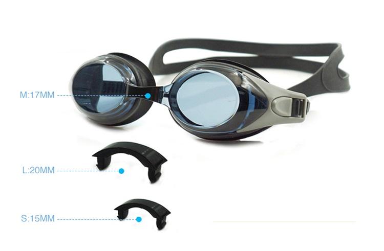 Zwembril Op Sterkte met 4 verschillende neus tussenstukken van Blinde Vis
